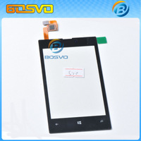 Original replacement For Nokia Lumia 520 touch digitizer lcd screen glass with flex cable 1 piece free shipping