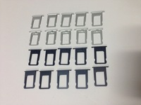 100pcs/lot Sim Card Slot Tray Holder for iPhone 5 5G black or silver available  Free Shipping