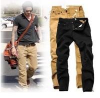 High Quality Cotton Brand Pants Men's Casual Pants khaki Black