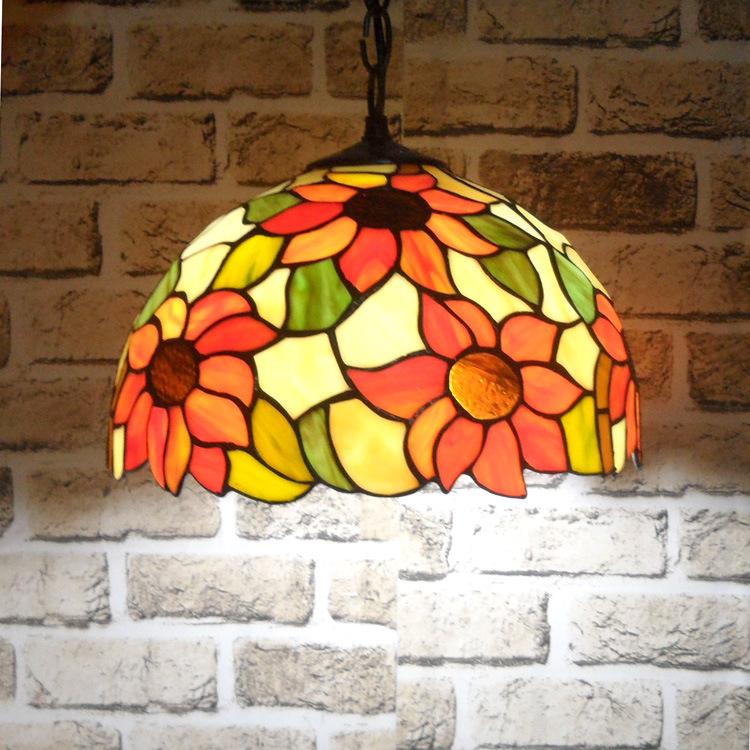 tiffany sunflower glass mosaic pendant lighting Pendant Lamp Lights, free shipping HML1005(China (Mainland))