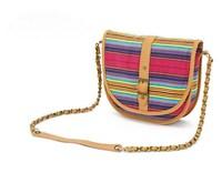 H1217 FF Colorful Stripes Vintage Canvas Cross Body Bag Messenger Satchel Handbag FREE SHIPPING DROP SHIPPING WHOLESALE