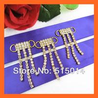 Free Shipping !100pcs/lot Gold Crystal Rhinestone connector for bikini ,crystal dangle connectors, rhinestone buckles