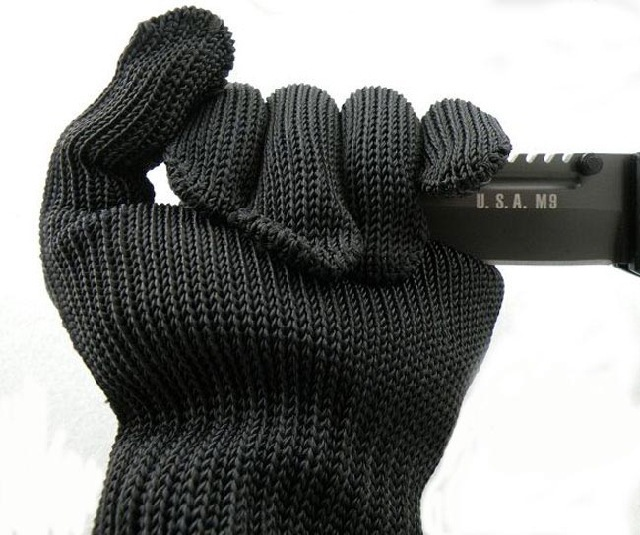 Free Shipping New arrival 100% Kevlar working Protective Gloves Cut-resistant Anti Abrasion Safety Gloves Cut Resistant Level 5(China (Mainland))