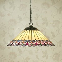 16 Inches Stained Glass Tiffany Style Art Deco Pendant Bedroom Living Room Vintage Lamps For The Kitchen