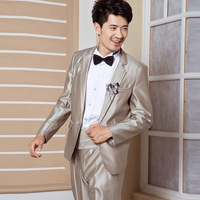 Wedding dress men's clothing suit formal male slim suit suits groom wear
