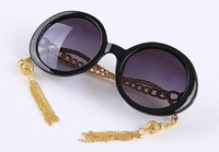 wholesale Popular design Chain pattern mirror tassel decoration sunglasses 14993 15  5pcs free shipping