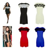 Womens Celeb Lace Black Evening Party Playsuit Romper Jumpsuit Ladies Dress