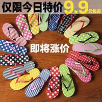 Flip flip flops beach sandals summer sandals flat heel dot casual slippers female drop shipment Free shipping