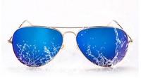 2015 New Fashion Frog Mirror Sunglasses Aviator Sunglasses Vintage Eyeglasses glasses Women & Men Polarized Lenses Sunglasses