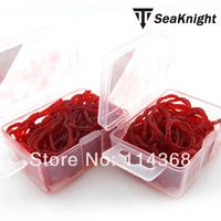 SeaKnight 200piece mini red worm bait soft lure bait carp fishing lures