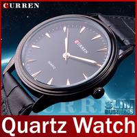 2014 New Fashion Brand Curren Genuine Leather Watch Ultrathin Watch Men Quartz Watch Dress Watch Clock For Man Casual Wristwatch