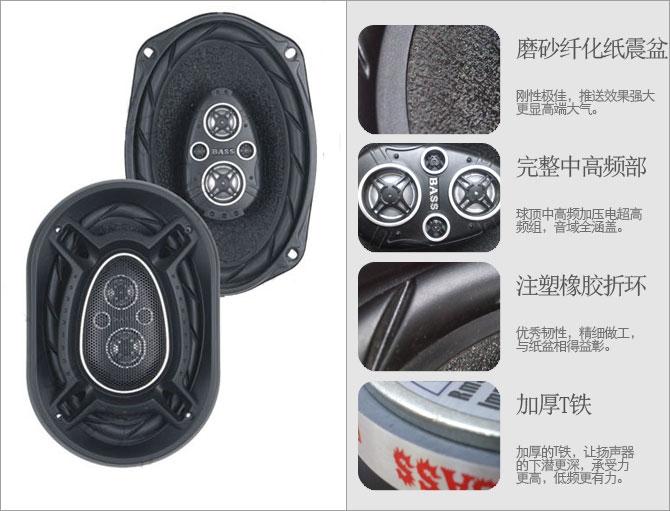 Car speaker car auto horn oval refit bass(China (Mainland))