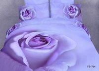New Hot Beautiful 4PC 100% Cotton Comforter Duvet DOoona Cover Sets FULL / QUEEN / KING bedding set 4pcs flower big purple rose