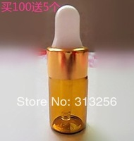 Wholesale lot 100pcs 3ml amber glass dropper bottles,Tiny small vails for Essential oils, cosmetics packing packing