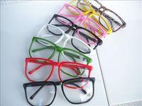 wholesale Free shipping Vintage big box eyeglasses frame box multicolour non-mainstream plain mirror glasses 290 1 glasses  5pcs