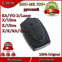 2014 New SHO-ME 525+ Car Radar Detectors Russian With X/K/KA/Ultra-X/Ultra-K/Ultra-KA/VG-2/Laser 360 Degrees Free shipping