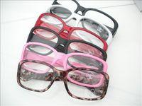wholesale Free shipping Cool glasses non-mainstream glasses black plain frame plain glass spectacles mirror 081  5pcs