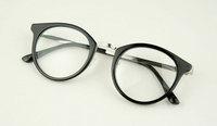 Discount Accessories wholesale Plain mirror metal mixed preppy style black-rimmed glasses 5946  10pcs/lot