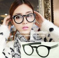 Discount Accessories wholesale Big box plain mirror preppy style black-rimmed glasses 2045  10pcs/lot