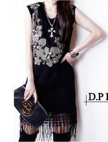 New 2014 Women Brand Blouses Hot Selling large size Beaded stitching  Lace  Chiffon Blouse Tops Autumn-Summer  Sale Shirt