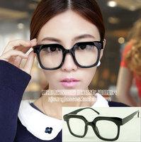 Discount Accessories wholesale Large frame plain mirror unique black glasses 5191  10pcs/lot