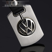 Volkswagen keychain male wiredrawing stainless steel key chain