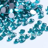 1440pc 1.9-2.0mm SS6 Blue Zircone Non Hot fix  3D Body Shoe Nail Art  Flatback Rhinestone Decoration glitter DIY Bead