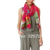 free za Winter 2014 desigual brand scarf Floreada 41W5739 super large beautiful brand desigual scarf women pashmina