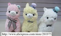100% high quality Cute Wearing a hat tie Japan Alpaca plush doll toys for children,baby Pillow,wedding toys Valentine gifts