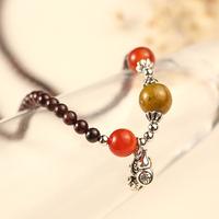 New arrival exquisite accessories  garnet bracelet natural bea bracelet