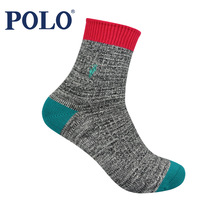 Male polo knee-high thermal socks winter thickening 100% thick cotton paul casual socks 2490