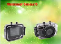 Hot sale HD 720P 2.0 inch Touch Screen mini video Waterproof Sport  camera F5 Action Helmet camera Mini Size Free Shipping