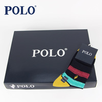 Polo male spring and summer thin socks knee-high paul 100% cotton candy color boxed men's socks 2546
