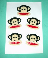The monkey towel fabric patch,The Most children like cartoon cloth paste 201403 ,Need to sew embroidered Patches
