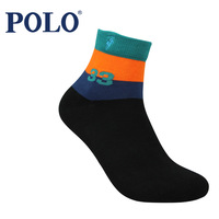 Male polo knee-high candy color socks autumn and winter 100% antibiotic cotton casual socks 2491