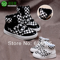 Boys shoes children shoes male child 2014 spring black and white checks child skateboarding shoes 1855x