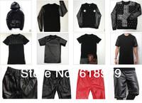 wholesale and bulk 2014 men faux leather sweatshirt  leather shirt hoodies  pyrex pants hip hop skateboard leather sweatpants