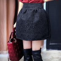 Women's bust skirt spring and autumn short skirt decorative pattern slim hip skirt plus size slim basic lantern skirt female
