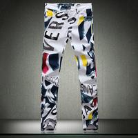 Fashion GYM Mens Printed jeans men jeans 2014 new fashion designer famous brand denim pants jp209-HV068