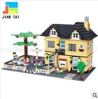 free shipping 2014 new models produces educationl happy farm toys blocks to assemble brick building blocks toys for children