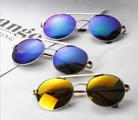 Retro-reflective metal sunglasses reflective sunglasses gradient lenses 812