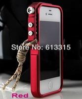 1pc  NEW! Cool  case Premium Aluminum metal bumper case cover for iPhone 5 /5s +Strap + gift