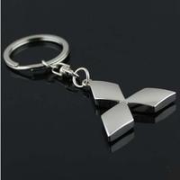 new 2014 fashion Mitsubishi car logo keychain novelty items promotional trinket gadget free shipping