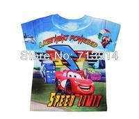 Boys girls summer Cartoon car short-sleeve child t shirts,kids t-shirt for children baby clothes children's wear retail shirt