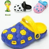 Brazil World Cup 2014 New Brasil Soccer Brand Children Sandals Kid girls boys slipper Children's Beach Shoes For Kid Girl Boy