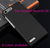 Free Shipping 1pcs Matte Frosted Hard Plastic Back Case Skin Cover For Huawei Ascend G6 Mobile Phone (8 Colors Available)