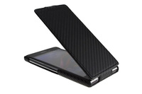 Xperia Z1 C6902/L39h case,New Ultra Slim Carbon Fiber Leather Flip Case For Sony Xperia Z1 C6902/L39h C6903 C6906 Free Shipping