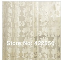 Ready-made curtains white  minimalist home cut white silk tulle flower  living room upscale bedroom custom fabric curtains