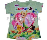 Free shipping Kids princess new summer tshirt tops top Tinkerbell children's girl girls clothing short-sleeve t-shirt t shirts