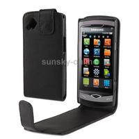 Vertical Flip Leather Case for Samsung Wave S8500